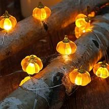 BOHON Halloween Lights 3D Jack-o-Lantern 10ft 30 LEDs Pumpkin String (Or... - $20.01