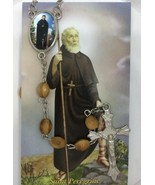 Saint Peregrine Catholic Rosary olive wood Jerusalem San Peregrino Rosar... - $13.86