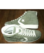 Converse Mens Pro Leather 76 Mid Top All Star Shoes Medium Olive Green S... - $54.44