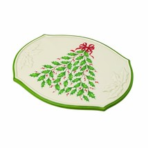 """Lenox Oval """"Holiday Trivet"""" with tree holly and berry motif Demension Co... - $19.99"""