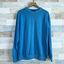 St Michael British UK Vintage Raglan Sweater Blue Cotton Mens Size 40 Me... - $33.65