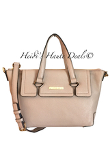 NWT MICHAEL KORS MACKENZIE SMALL TOP ZIP SATCHEL BLUSH PINK PEBBLED LEAT... - $138.99