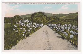 Roadway Hegeman Home Black Mountain North Carolina 1920s postcard - $5.45