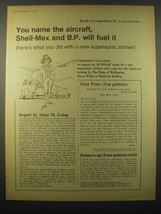 1965 Shell-Mex BP Oil Ad - You name the aircraft, Shell-Mex and B.P. wil... - $14.99