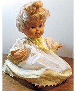 """Vintage 1989 Ideal Tiny Tears Blue eyed Baby Doll 15"""" Strawberry Blonde ... - $21.04"""