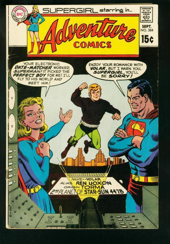 ADVENTURE COMICS #384 1969-SUPERGIRL-DATING MACHINE-DC COMICS-vg
