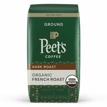 Peet's Coffee Organic French Roast, Dark Roast Ground Coffee, 18 oz - $19.70