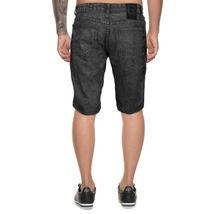 LR Scoop Men's Moto Quilted Distressed Painted Skinny Slim Fit Jean Denim Shorts image 3