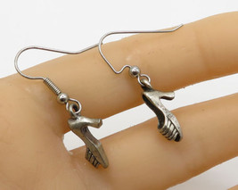 925 Sterling Silver - Vintage Woman Shoe Drop Earrings - E1856 - $16.92