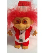 Vintage Santa Troll with Red Hair and Red Eyes - $5.39