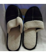 Ladies winter white & black size Large  (10-11)  mule slippers  Bobbie B... - $9.00