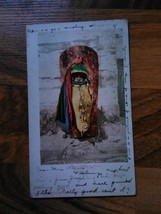old vintage antique postcard 1902 am embryonic warrior baby in bundle De... - $9.99