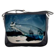 Messenger Bag Pirates Of The Caribbean Ship In The Bottle With Nature Bl... - $30.00