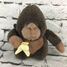 "San-El Co 8.5"" Monkey Plush Brown Sitting Gorilla Stuffed Animal W/Banana - $9.89"