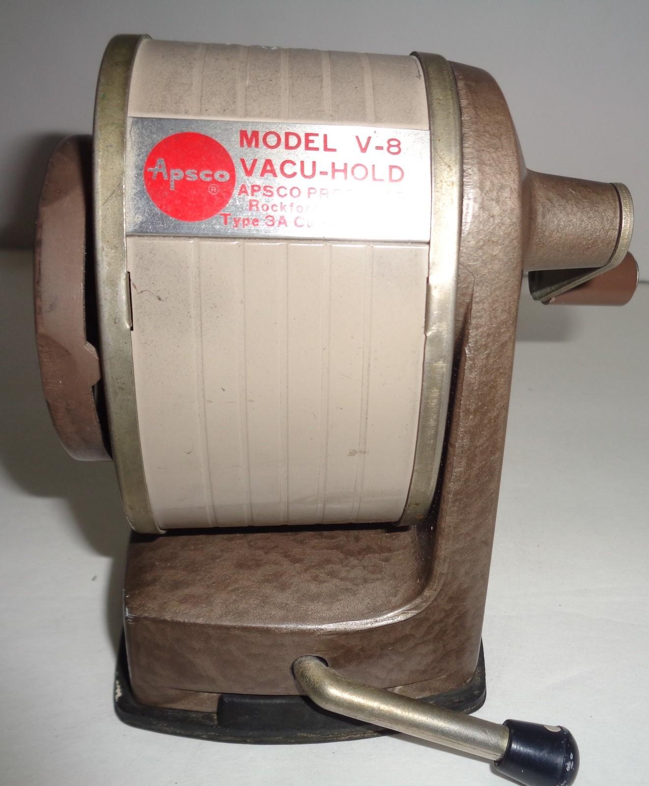 Apsco Vintage VacuHold Pencil Sharpener Desk Top Suction Vacuum Mount V-8