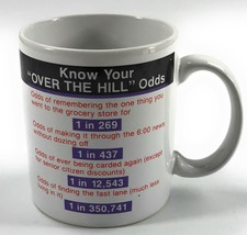 Hallmark Know Your Over the Hill Odds Funny Old Gift Birthday Tea Coffee Mug Cup - $9.92