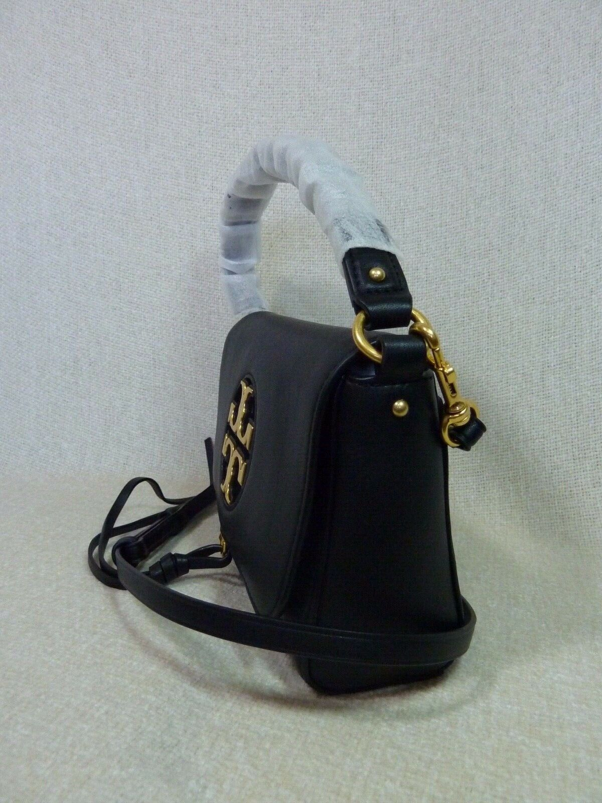 NWT Tory Burch Black Leather Miller Metal Cross-Body Bag/Mini Shoulder Bag $398 image 4