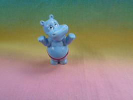 Kinder Egg Surprise Ferrero Tiny Blue Hippo Figure - $1.49