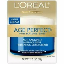 L'Oreal Dermo-Expertise Age Perfect for Mature Skin Night Cream 2.50 oz - $16.83