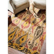nuLOOM NCNT16A Natura Collection Paisley Jute Contemporary  Rug, 8 x 10' Natural - $247.49