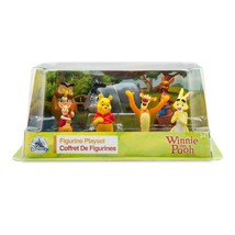 "Disney Store Winnie the Pooh 7pc Figure PVC Doll 3.5"" Figurine Playset T... - $29.35"