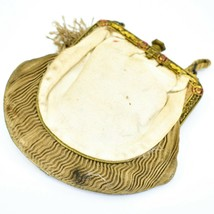 Vintage Cloth Evening Purse Clutch Coin Makeup Bag Accessory image 2