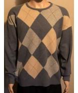 Men's St Andrews Woollen Mill 100% Wool Argyle Sweater Made In Scotland XL - $38.69