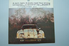 avanti owners sales brochure used original   - $12.99