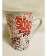 Starbucks Autumn Fall Orange Leaves 16 oz Cup Mug EUC - $14.84