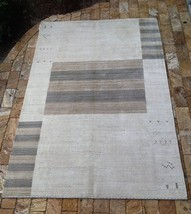 Contemporary Indian hand made Cream Wool Area Rug  10' x 14' - $1,573.11