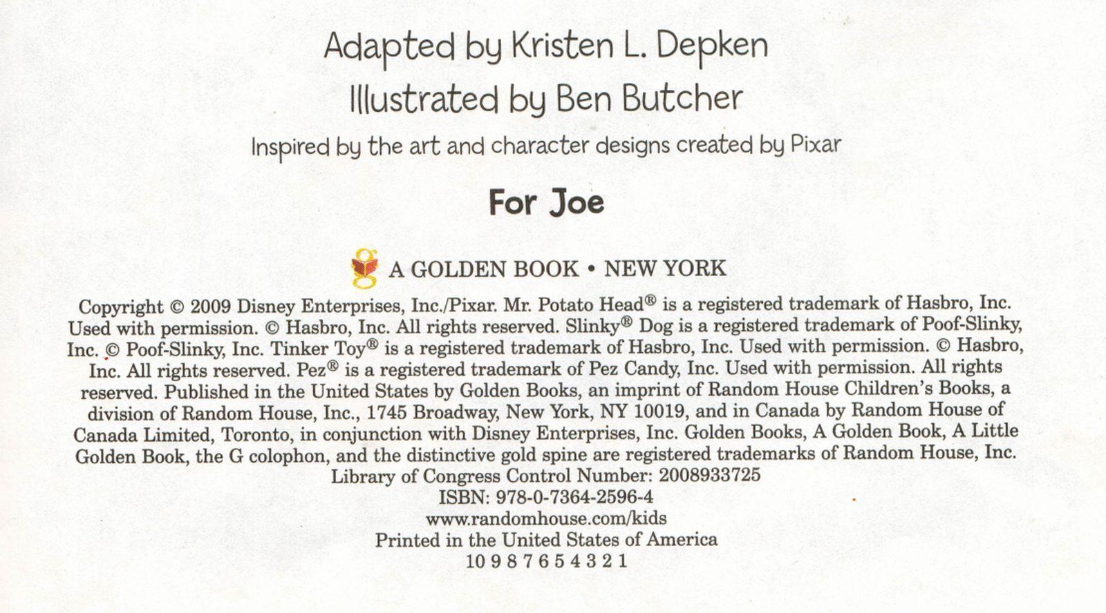 2009 Disney Pixar Toy Story Woody Buzz Lightyear 1st Ed HC Little Golden Book