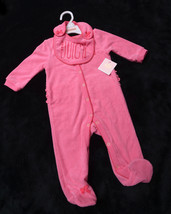 2 Piece Juicy Couture Baby Footie With Bib Size 0/3 Months Snaps New - $42.21