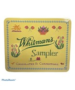Whitman's Sampler Tin Chocolates & Confections Empty 10x8 Hinged Lid - $19.99