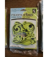 Inkadinkado Inkadinkaclings Rubber Cling Stamps - CLASSIC FLOURISH - $9.89