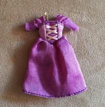 "Mini 3"" Rapunzel Tangled doll dress replacement sized Disney store - $14.50"