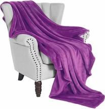 """Soft Fleece Blanket Flannel Purple Velvet 50"""" x 60"""" Microfiber Plush Throw - $54.00"""