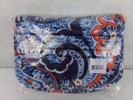 Vera Bradley Travel Jewelry Organizer- MARRAKESH - Blue Quilted - $23.74
