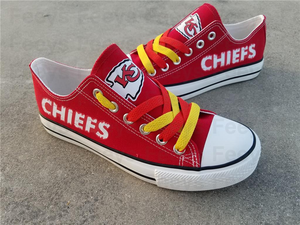 kc chiefs shoe women converse style chiefs sneakers kansas city fans gift canvas