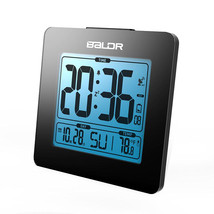 BALDR Atomic Digital Desk Alarm Clock Time Day Temperature Display Large... - £17.29 GBP