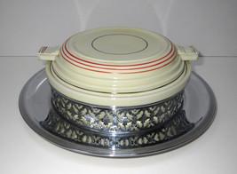 Royal Rochester Casserole Dish Art Deco Chrome ... - $49.95