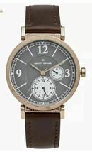 Lucky Brand Carmel Boyfriend Chocolate Leather Chronograph Watch 38mm Unisex NEW - $56.99