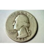 1941 WASHINGTON QUARTER DOUBLE DIE REVERSE GOOD G NICE ORIGINAL COIN BOB... - $22.00