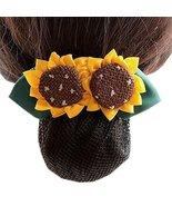 Ladies Flower Hair Accessories Elastic Hair Bun Net Snood Net Bun Cover ... - $23.44