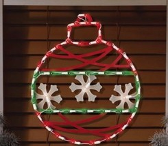 """17"""" Lighted Pre Lit Christmas Ornament Window Decoration Holiday Silhouette - $30.64"""