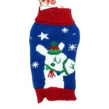 Dog Sweater Size Medium Llama Red Blue Christmas Holiday Sweater Soft NEW  - $10.70