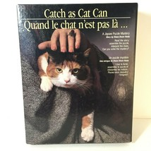 Complete 1989 Catch as Cat Can Puzzle 500 Piece Mystery Jigsaw with Sto... - $15.98