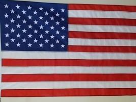 Usa 2.5X4'FLAG New Us Made Embroidered Stars Sewn Nylon - $19.80