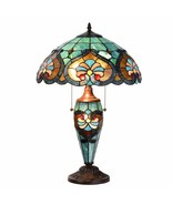 Tiffany Style Table Lamp Victorian Desk Lamp Stained Glass Home Décor Lamp - $119.99