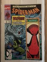 Spider-Man #11 Marvel Comic Book 1991 VF+ Wolverine Wendigo / Todd McFar... - $3.59
