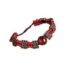Bracelet Retro Chinese Style Woven Jewelry Ethnic Handmade Bracelets Agate